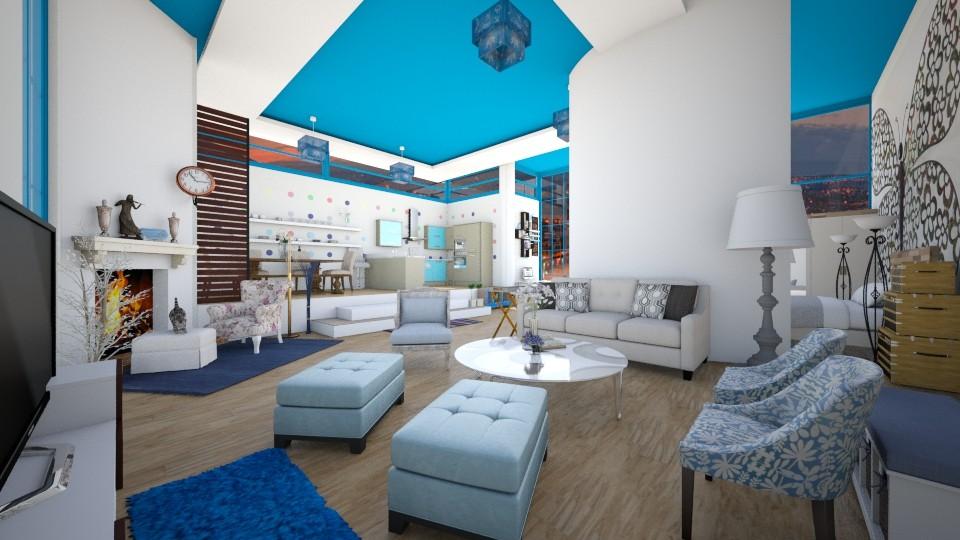 blue birds - Modern - Living room - by lamzoi