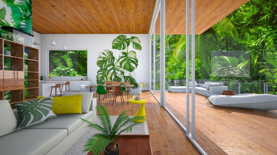 TROPCAL_ananas revolution - Modern - Living room - by Georgina Holly