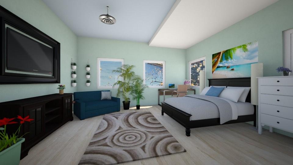 Guest bedroom - Modern - Bedroom - by inataliepaige