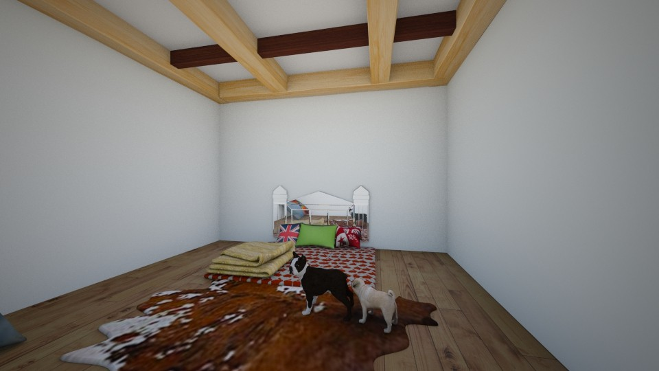 bed in the floor and dogs - Bedroom - by robloxruler