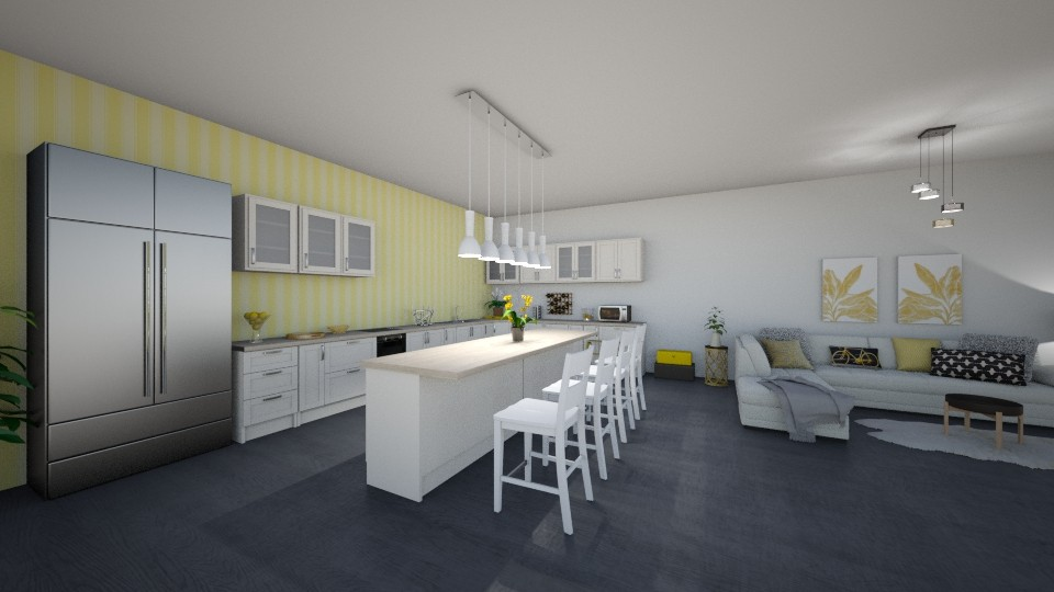 living and kitchen space - by megan24k