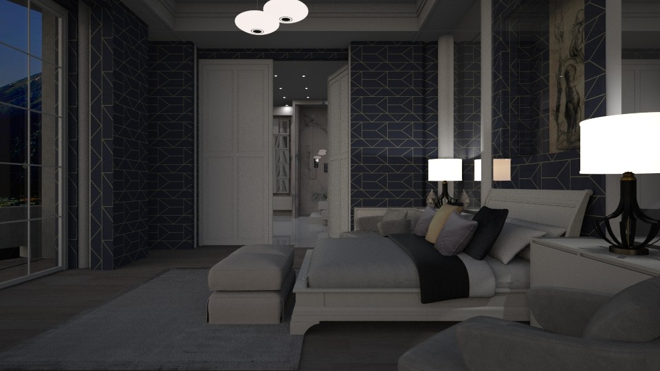 on suite at night - Living room - by tika 008