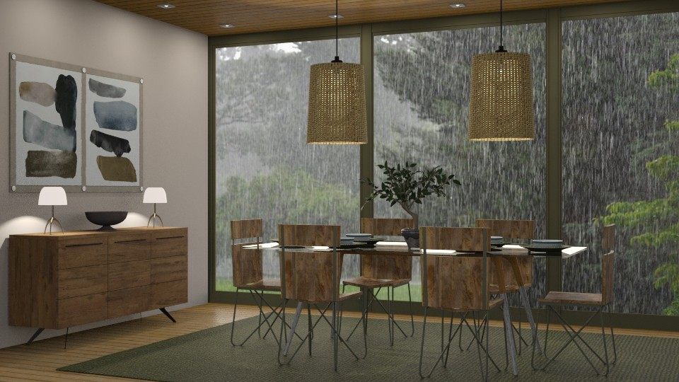 Olive - Dining room - by GraceKathryn