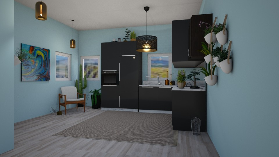 Cozy Boho Kitchen - Modern - Kitchen - by Isaacarchitect