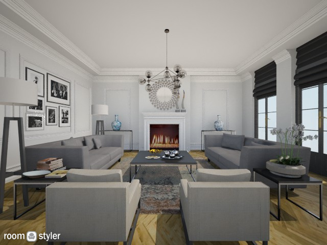 Symmetrical - Living room - by fre82