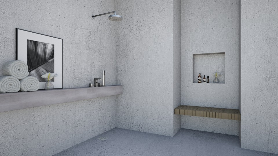 Bare Concrete - Minimal - Bathroom - by amandafern