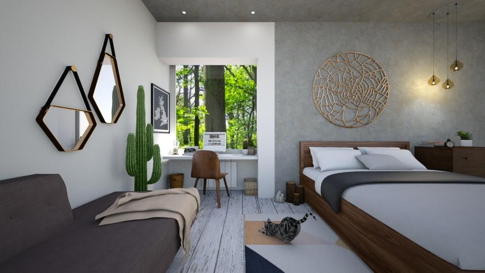 bohemian bedroom - by zabarra