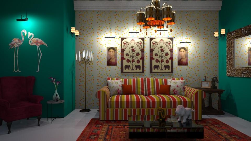 bohemian living room - by Spencer Reid