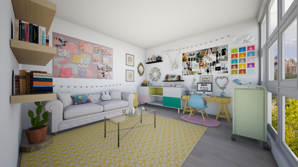 feminine home office - Office - by Kylie Gallant