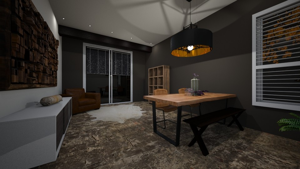Industrial Dining - Rustic - Dining room - by KimAlys
