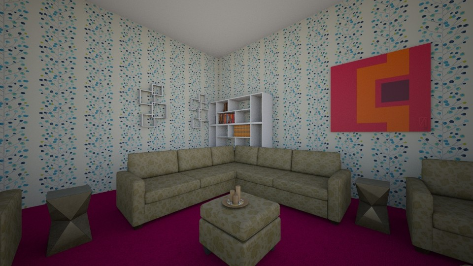 My Dream Room - Glamour - Living room - by Arishka Jha