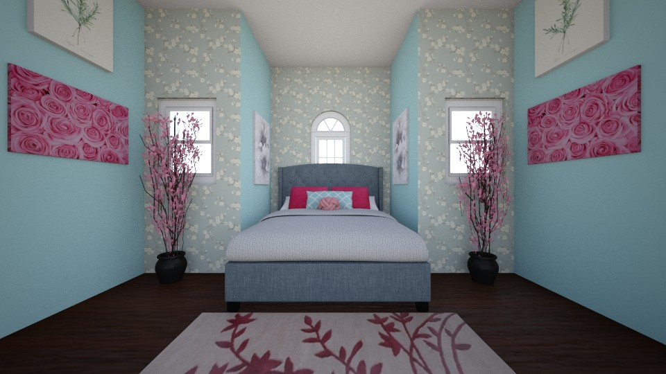 Floral Bedroom - Feminine - Bedroom - by WPM0825