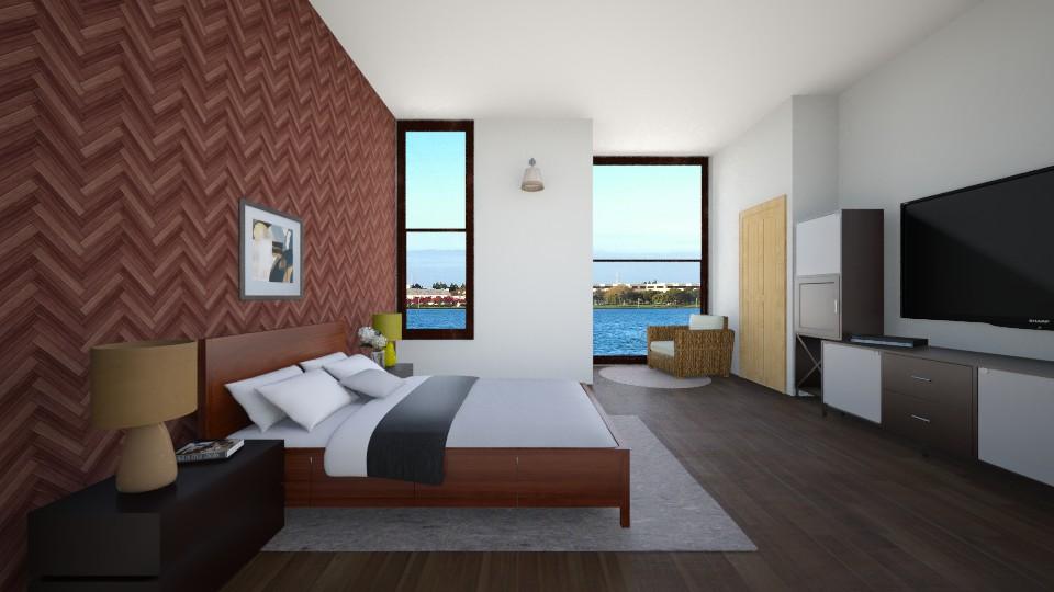 Wood n White Bedroom - Bedroom - by Nameit