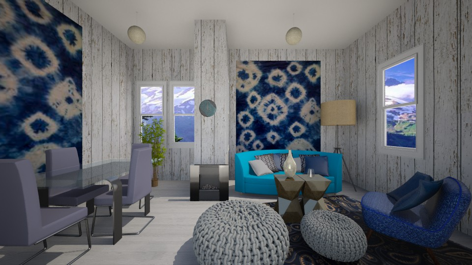 Shibori - Living room - by Angela Quintieri
