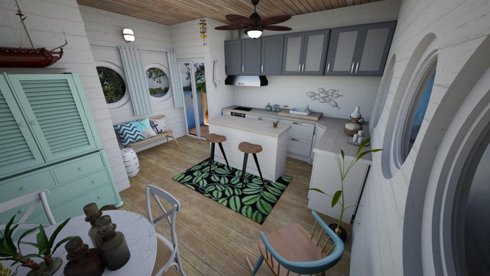 Small Ship kitchenette   - Rustic - Kitchen - by Smiljka Kostic