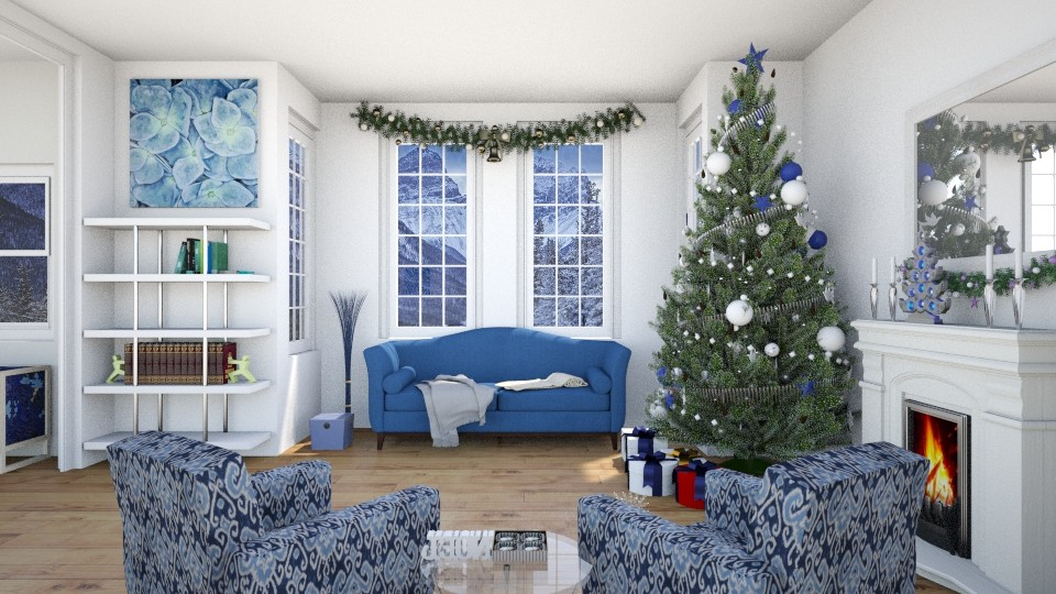 Blue Christmas - Living room - by Tzed Design