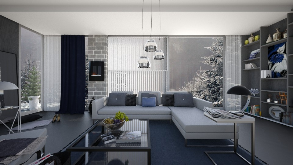 M_ One winter day - Modern - Living room - by milyca8
