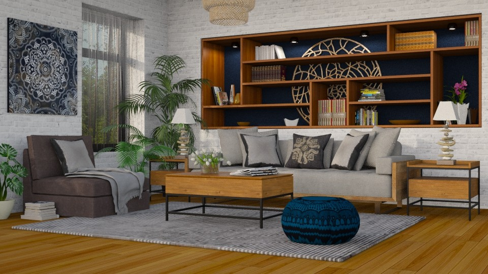 Modern Boho - Eclectic - Living room - by Theadora