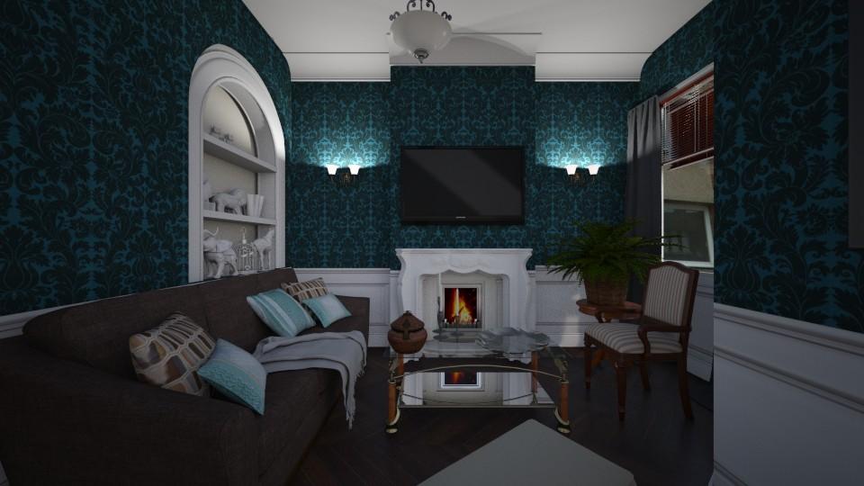 Salon v1 vue gauche - Classic - Living room - by Lu Do