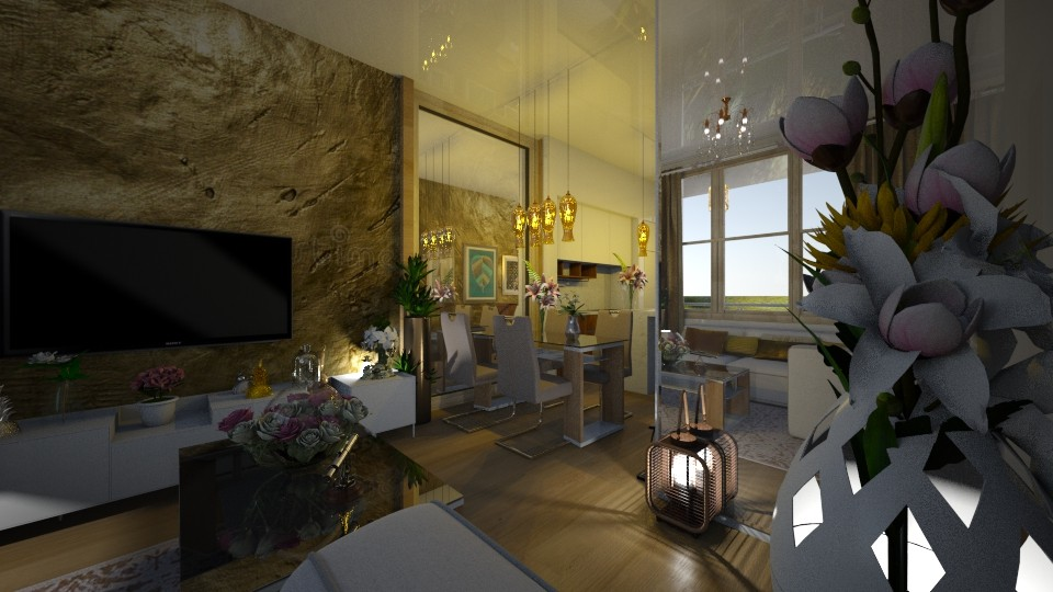 The Mirrored Image - Living room - by Maria Helena_215