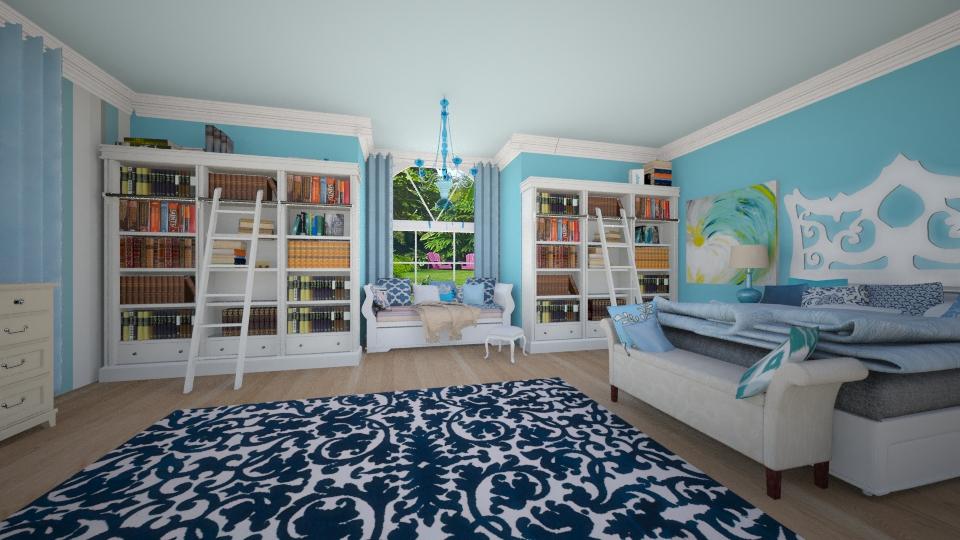 Blue Bedroom - Bedroom - by nellica