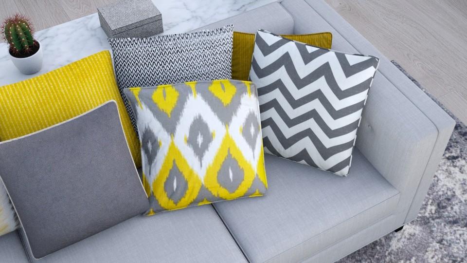 yellow and grey - Modern - Living room - by AnaCatarina