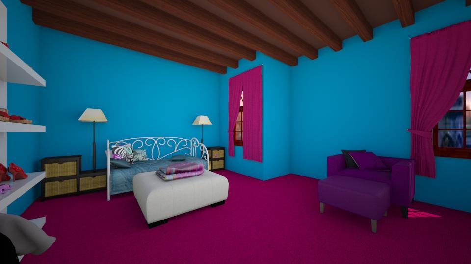 bold colors - Bedroom - by jcflynn