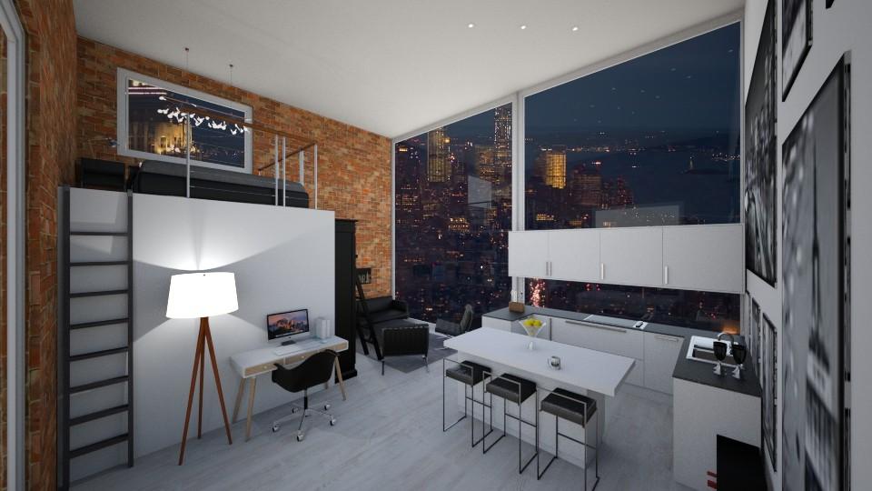 Mezzanine Loft Apartment - Modern - by GinnyGranger394