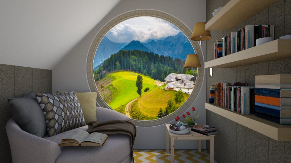 round window - by sunflower123
