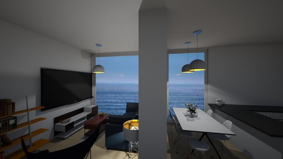 Kitchen Livingroom 2 - Living room - by katarinalaaksonen