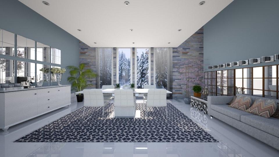 Jantar Luxo - Dining room - by camivieira94