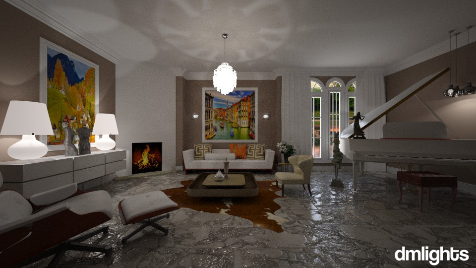 Piano Room - Living room - by DMLights-user-982019