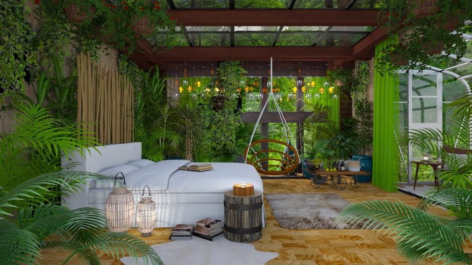 my green room  - Eclectic - Bedroom - by Ida Dzanovic