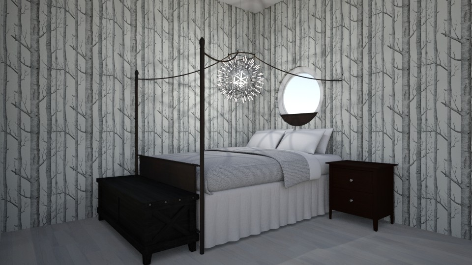 Black and White Bedroom - Bedroom - by Intricate
