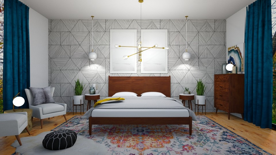 mid century modern 2 - Bedroom - by ccassidyyevvanns