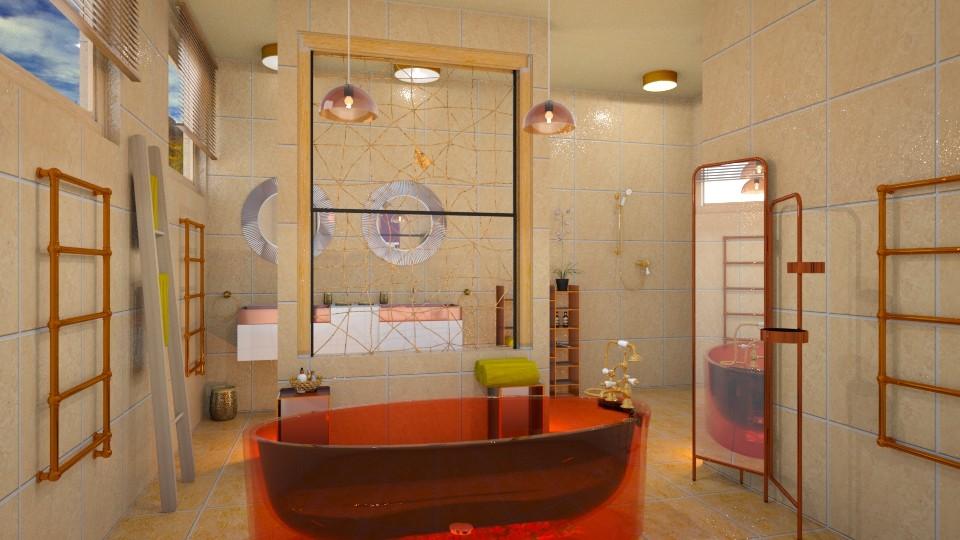 sheerfull orange - Bathroom - by Moonpearl