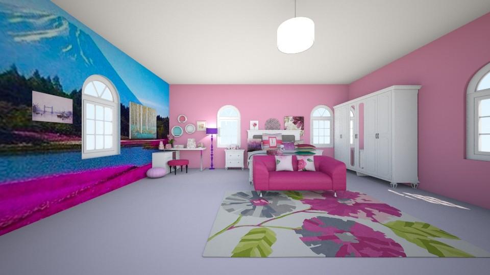 pink - Bedroom - by kotki