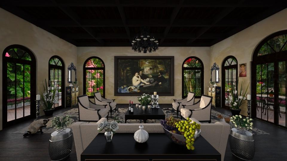 Summer Storm - Living room - by lydiaenderlebell