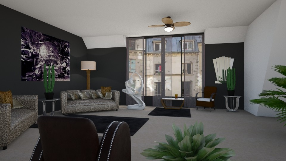 Room 9 - Living room - by Tiffany Y