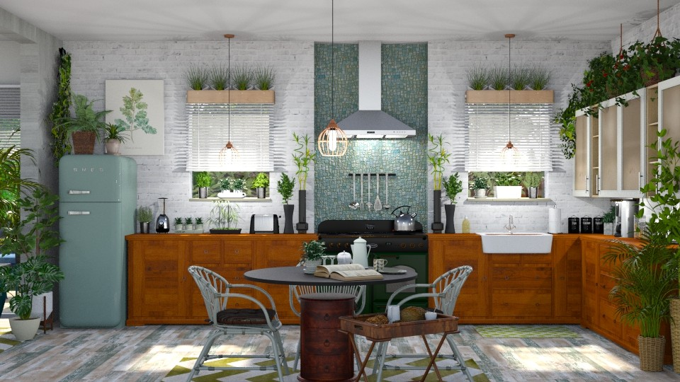 Urban Jungle Kitchen - Kitchen - by  krc60
