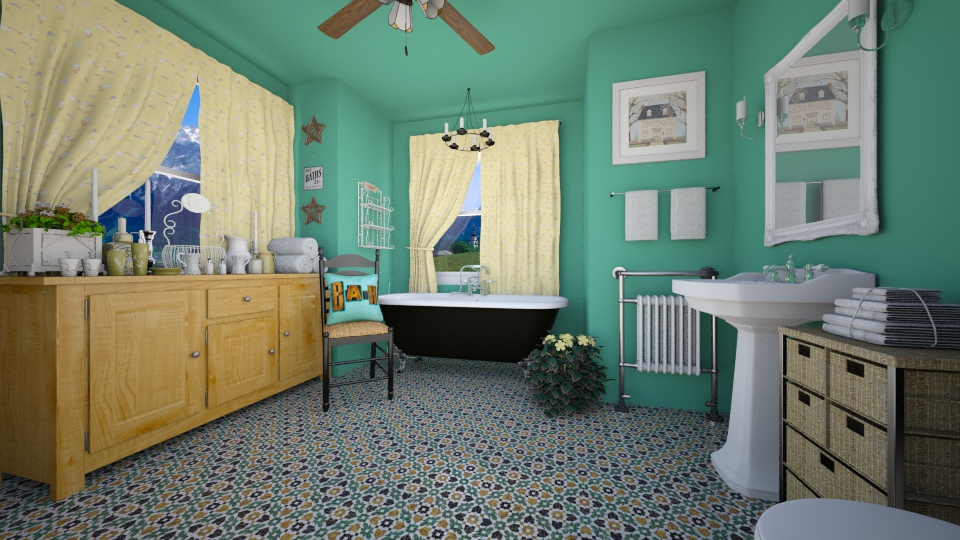 County Style Bathroom - Country - Bathroom - by LadyVegas08