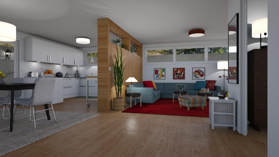 Basement Apartment - Living room - by GraceKathryn