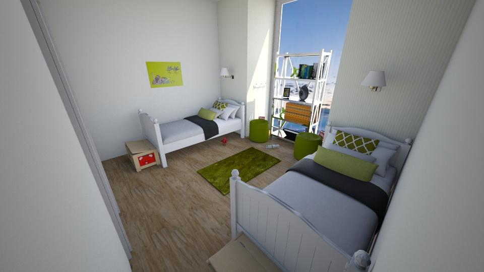 twin bedroom - Bedroom - by amalachrafii