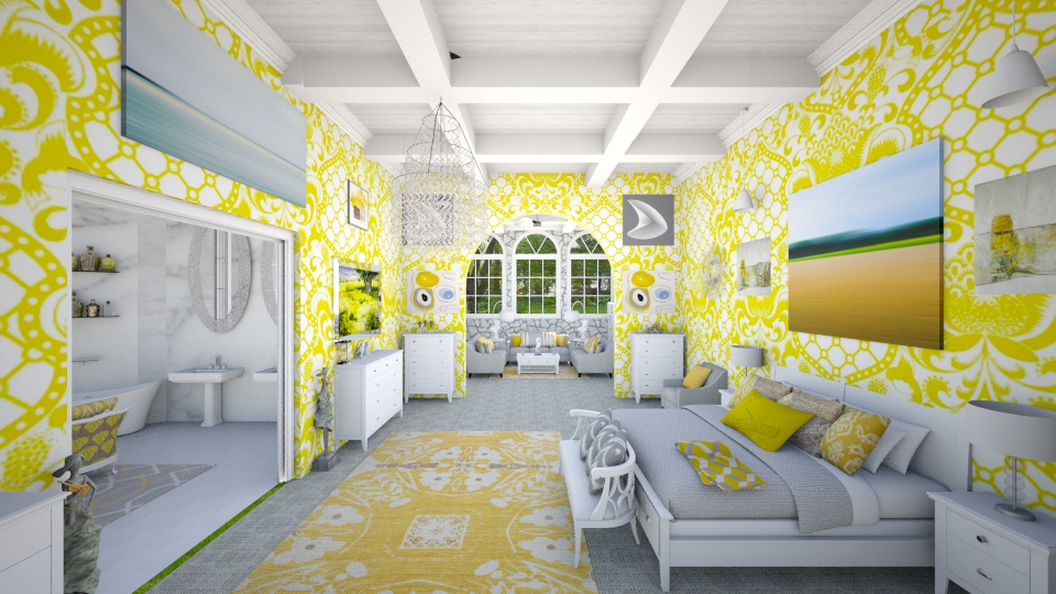 Yellow Suite  - Modern - Bedroom - by DiamondJ569