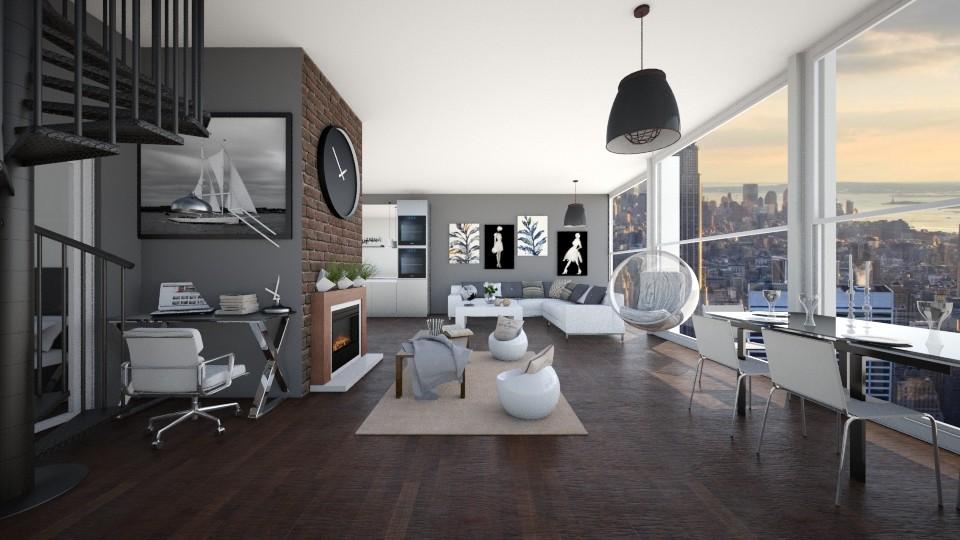 modeRn - Living room - by Tinkagolianova