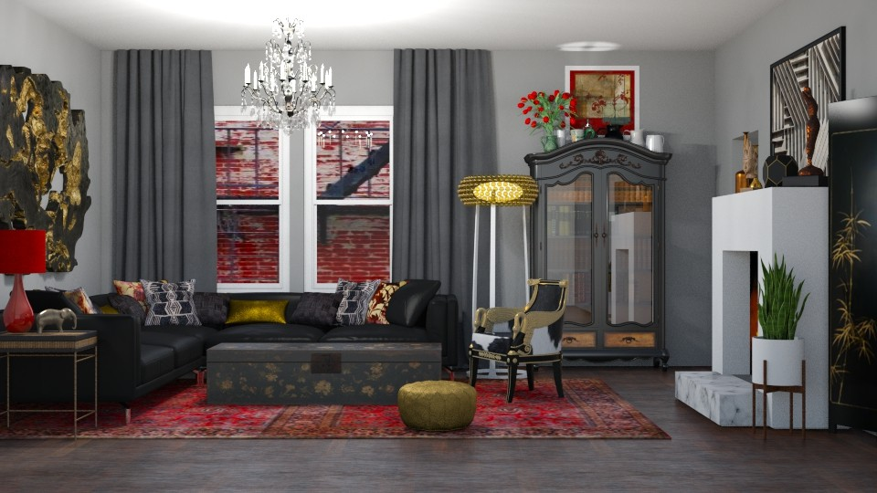 Eclectic Living - Eclectic - Living room - by jjp513