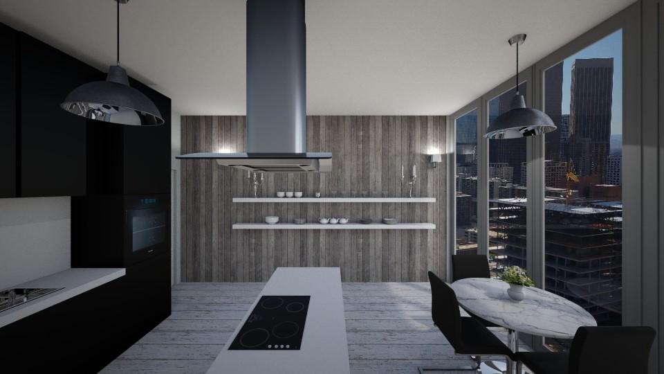 Black Kitchen - Kitchen - by mdnhww