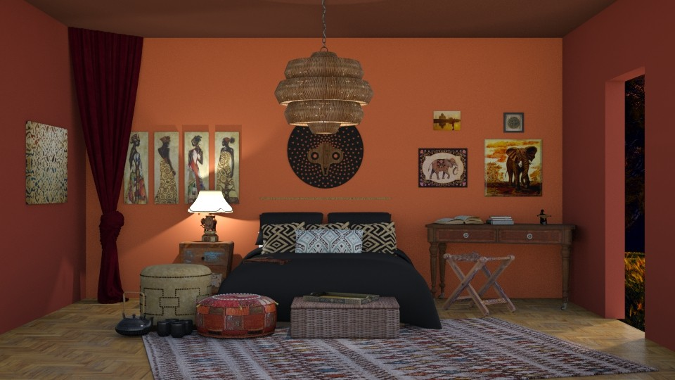 African - Bedroom - by RaeCam