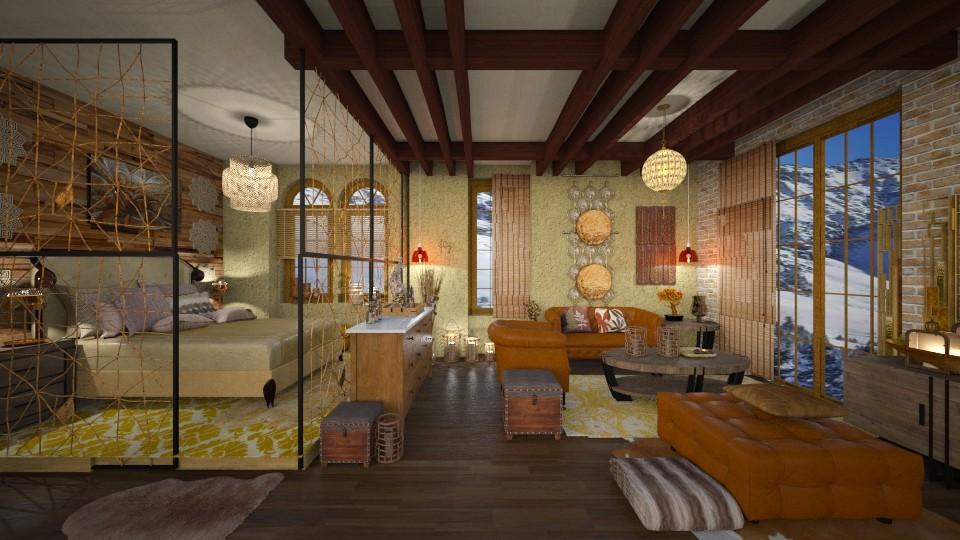 Caramel living bedroom - by Moonpearl