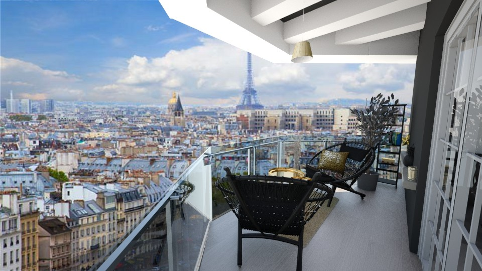 paris manzarasi - Living room - by kanatsizmelek